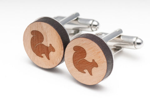 Flying Squirrel Wood Cufflinks