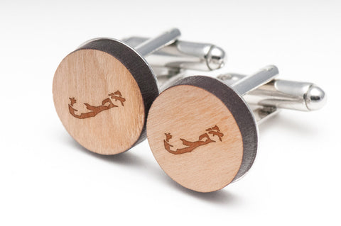 Bermuda Wood Cufflinks
