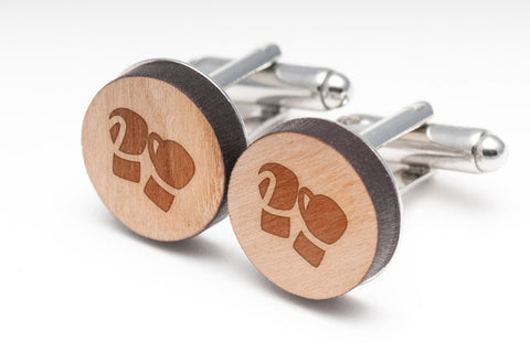 Boxing Gloves Wood Cufflinks