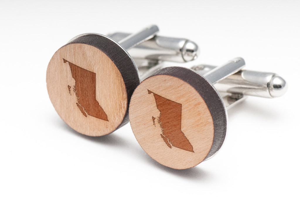 British Columbia Wood Cufflinks