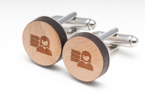 Librarian Wood Cufflinks