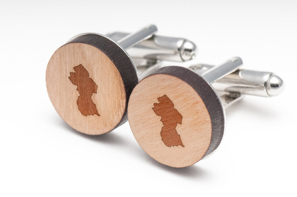 Guyana Wood Cufflinks