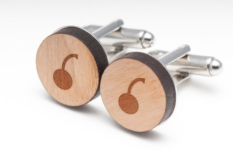 Cherry Wood Cufflinks