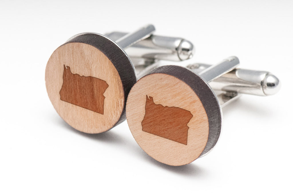 Oregon Wood Cufflinks