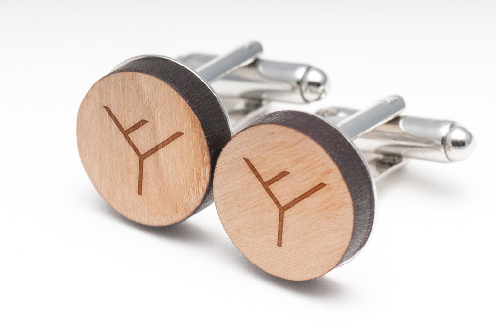 Phylogenetic Tree Wood Cufflinks