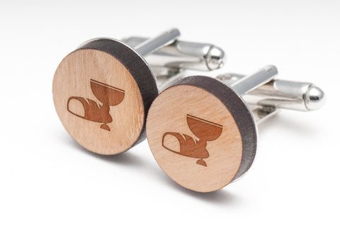 Communion Wood Cufflinks