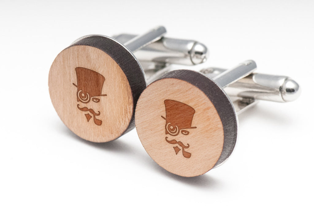 Steampunk Wood Cufflinks