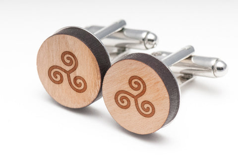 Triskele Wood Cufflinks