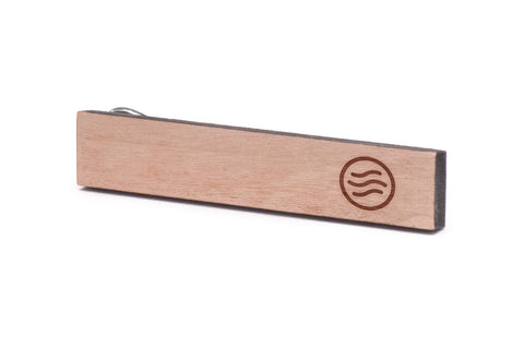 Air Wave Wood Tie Clip