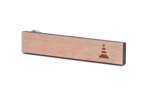 Traffic Cone Wood Tie Clip