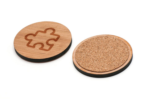 Autism Wooden Coasters Set of 4
