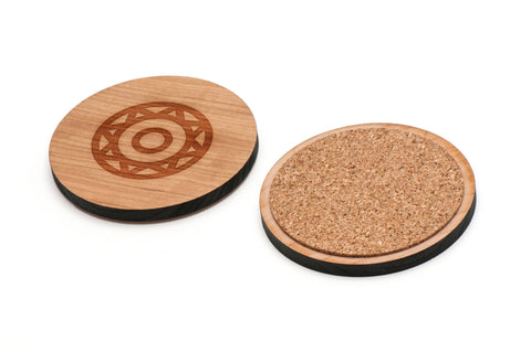 Aztec Wooden Coasters Set of 4