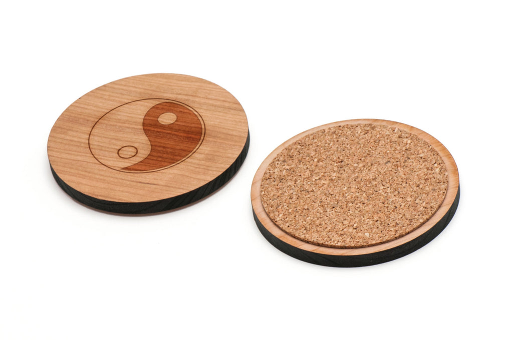 Tao Wooden Coasters Set of 4