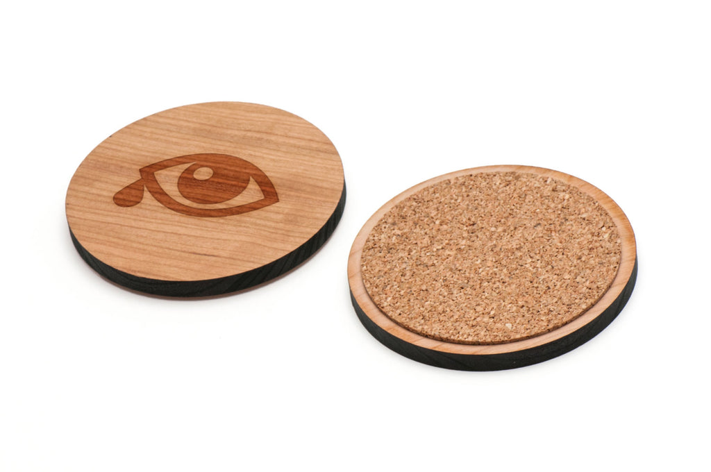 Teardrop Wooden Coasters Set of 4