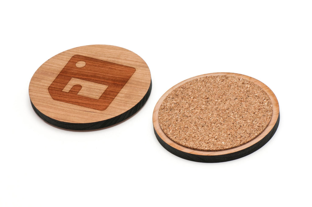 Floppy Disk Wooden Coasters Set of 4