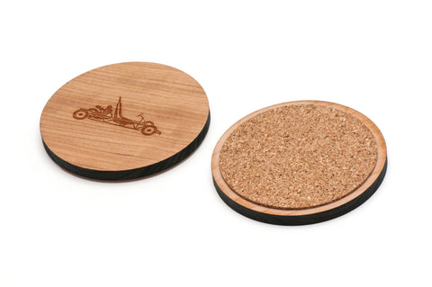 Go Kart Wooden Coasters Set of 4
