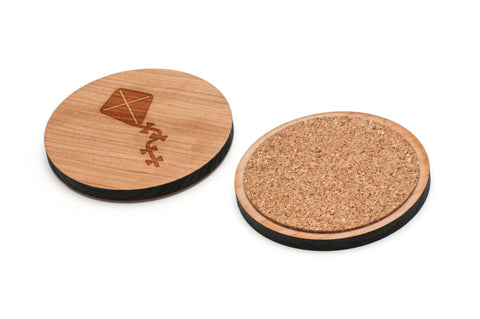 Kite Tail Wooden Coasters Set of 4