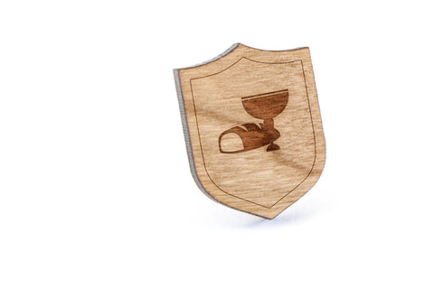 Communion Wood Lapel Pin
