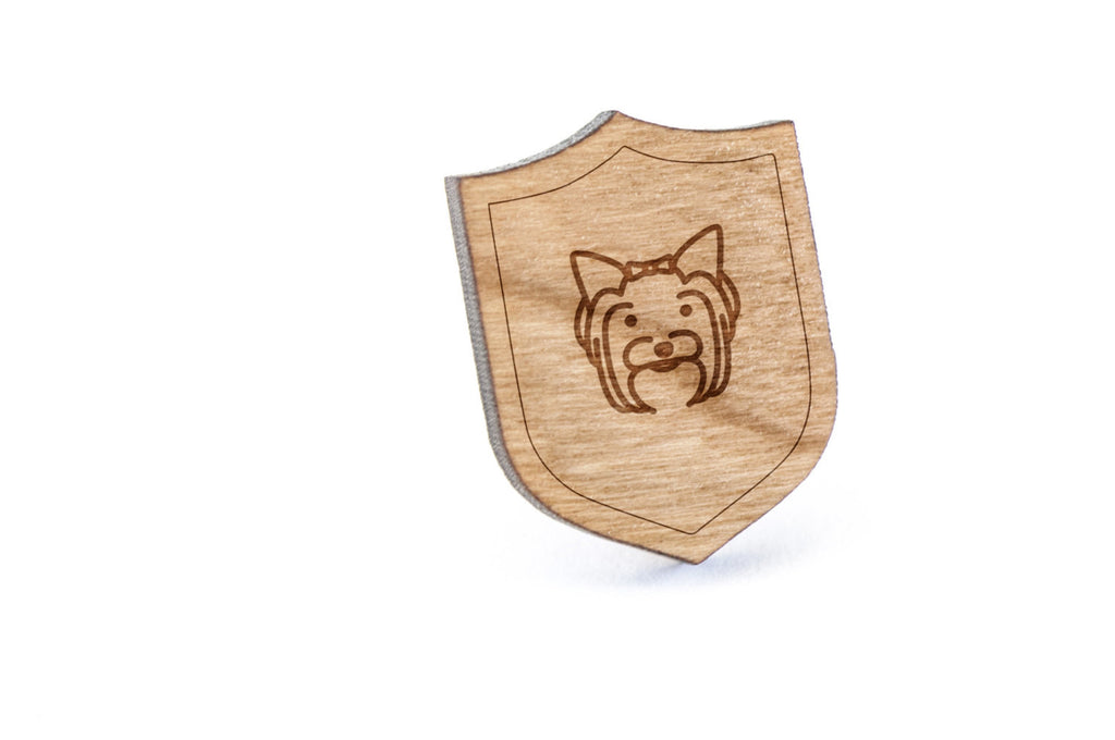 Yorkshire Terrier Wood Lapel Pin