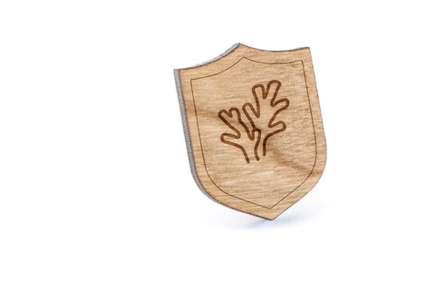 Coral Wood Lapel Pin