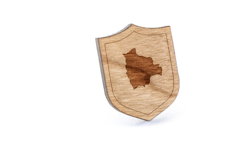 Bolivia Wood Lapel Pin