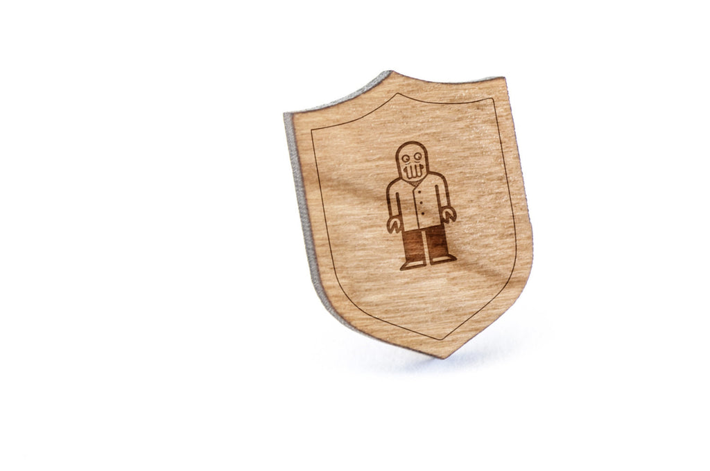 Zoidberg Wood Lapel Pin