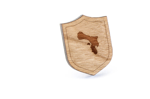 Bonaire Wood Lapel Pin
