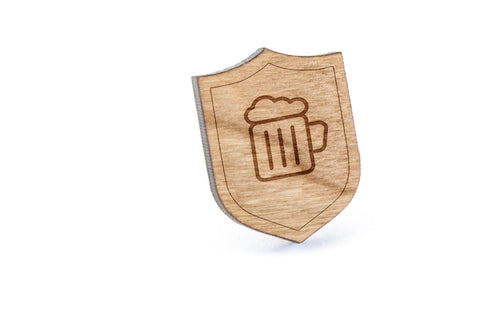 Booze Wood Lapel Pin