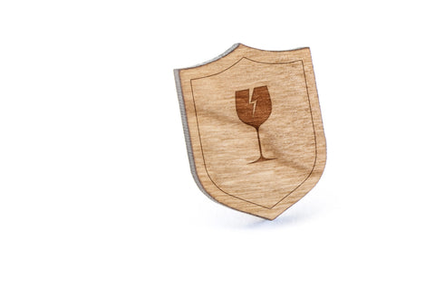Cracked Glass Wood Lapel Pin