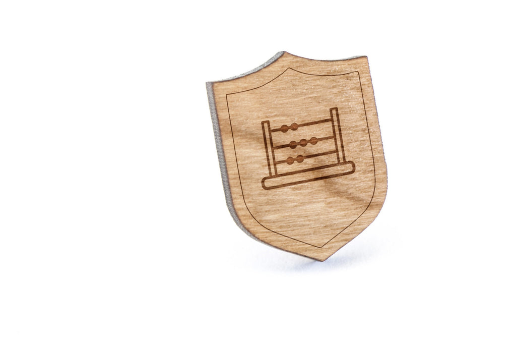 Abacus Wood Lapel Pin