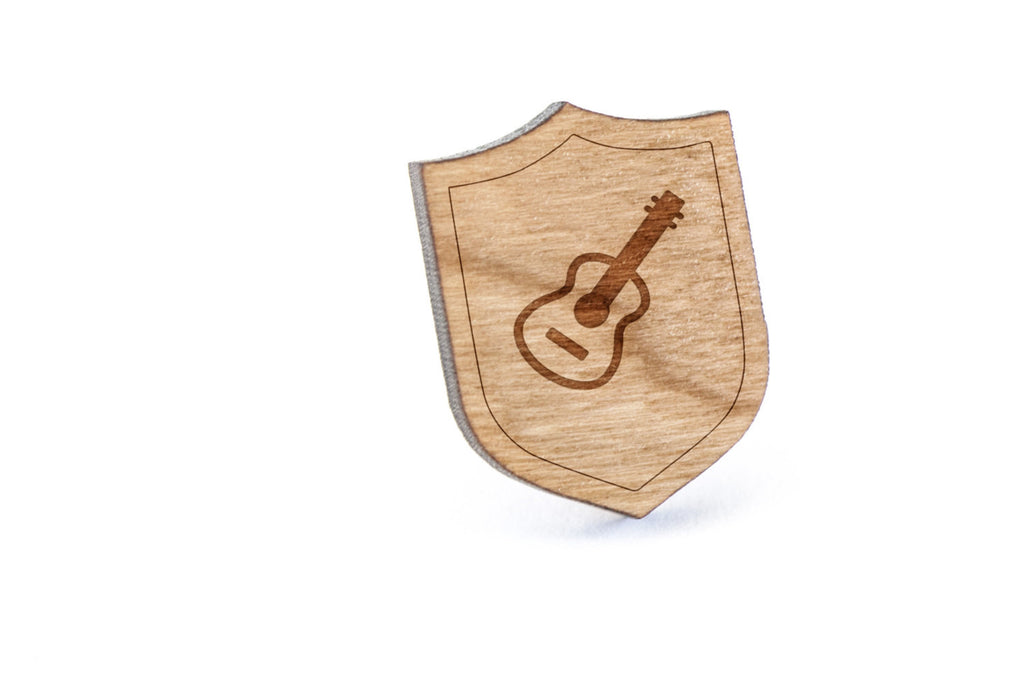 Acoustic Guitar Wood Lapel Pin