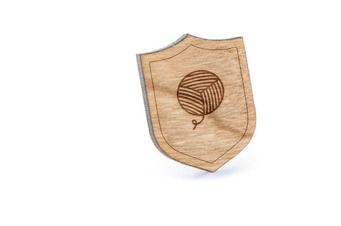 Yarn Wood Lapel Pin
