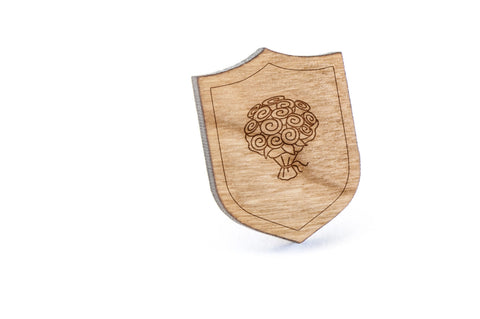 Bouquet Wood Lapel Pin
