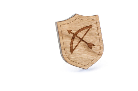 Bow And Arrow Wood Lapel Pin