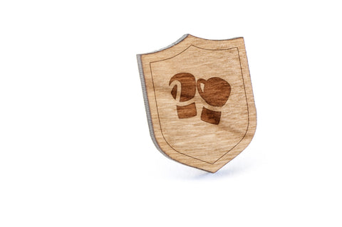 Boxing Gloves Wood Lapel Pin