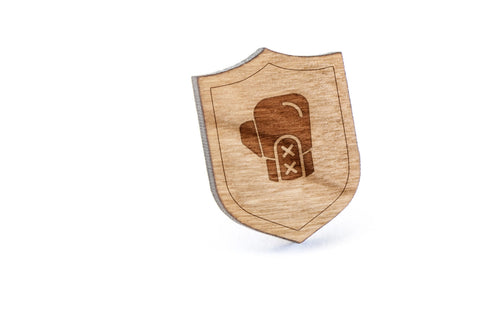 Boxing Glove Wood Lapel Pin