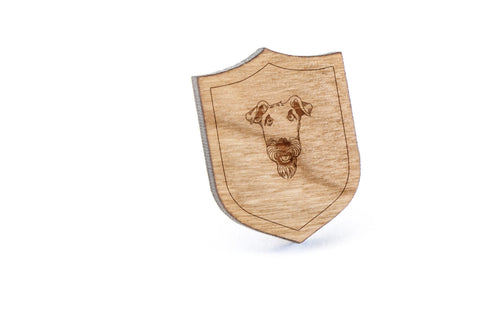 Airedale Terrier Wood Lapel Pin