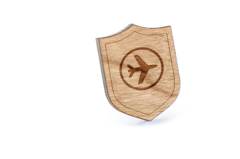 Airplane Wood Lapel Pin