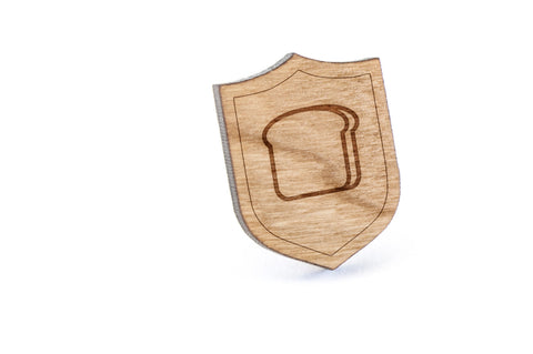 Bread Wood Lapel Pin
