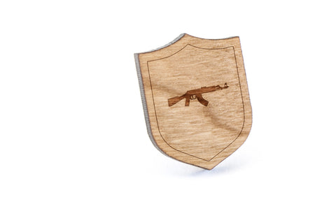 Ak47 Wood Lapel Pin