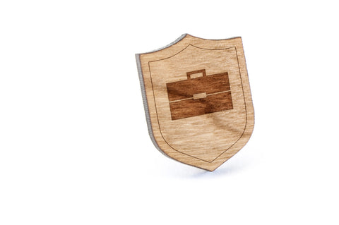 Briefcase Wood Lapel Pin