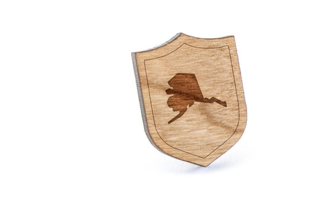 Alaska Wood Lapel Pin