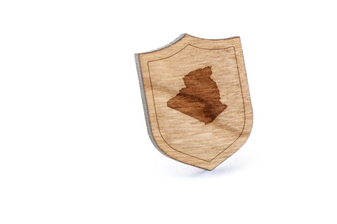 Algeria Wood Lapel Pin