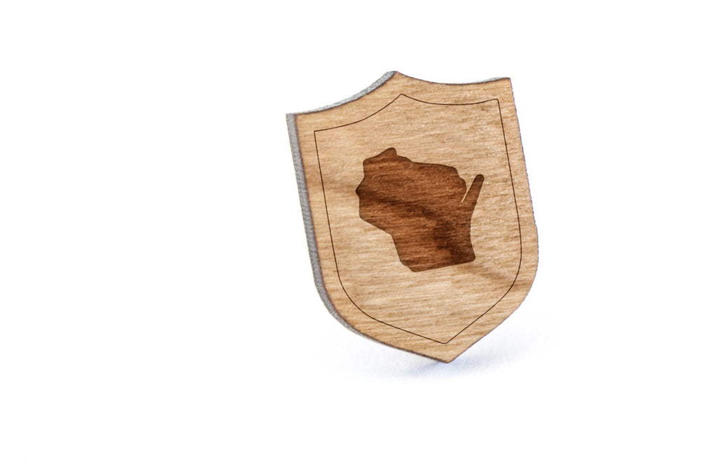 Wisconsin Wood Lapel Pin