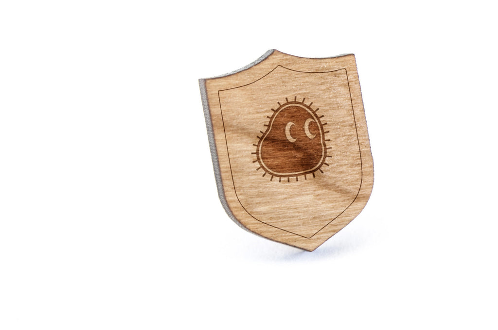 Amoeba Wood Lapel Pin