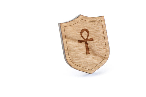 Ankh Wood Lapel Pin