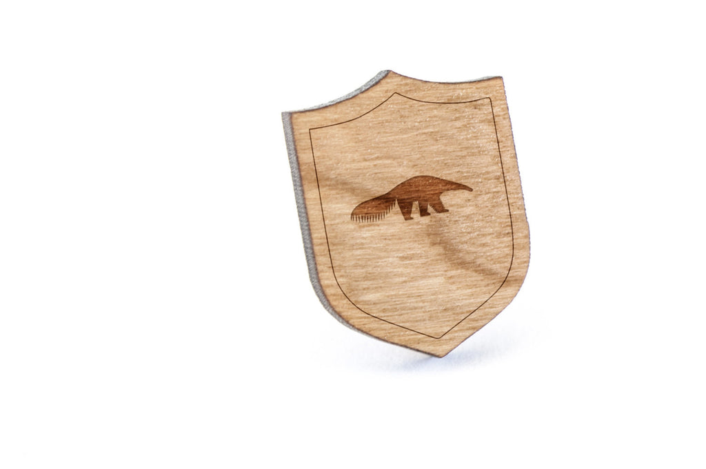 Anteater Wood Lapel Pin