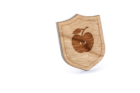 Apple Wood Lapel Pin