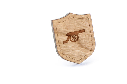 Cannon Wood Lapel Pin
