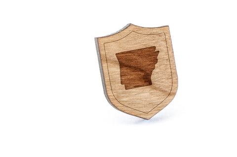 Arkansas Wood Lapel Pin